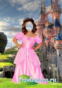 Девочка в костюме принцессы - Костюм для фотомонтажа