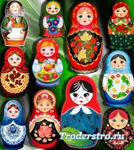 Клипарты на прозрачном фоне - Русские матрешки