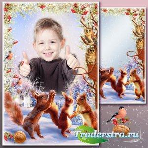 Рамка для Фотошопа - Зимние истории 7