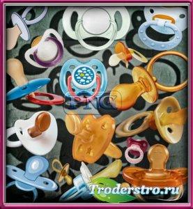 Растровые клипарты для фоторамок - Детские пустышки