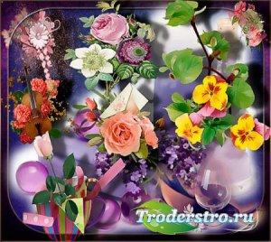 Png клипарты - Нежность цветов