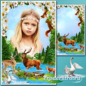 Рамка для Фотошопа - Весенние истории 15