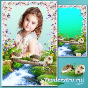 Рамка для Фотошопа - Весенняя переправа