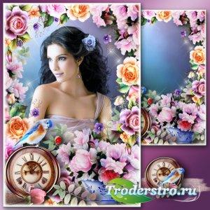 Рамка для Фотошопа - Весенний портрет