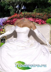 Женский фотошаблон - В бальном платье