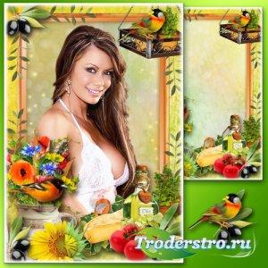 Рамка для фотошопа - Натюрморт с оливками