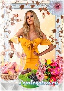 Женская рамка - Осенний портрет