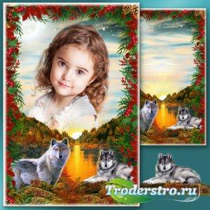 Рамка для фотошопа - Осенний багрянец