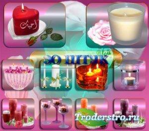 Прозрачные картинки для фотошопа - Праздничные свечи