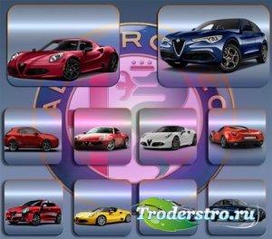 Прозрачные клипарты для фотошопа - Автомобили Alfa romeo