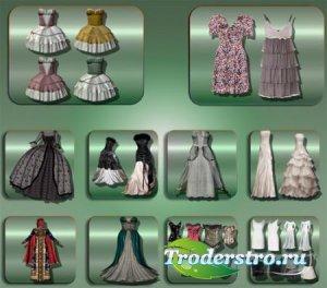Растровые клипарты - Вечерние платья