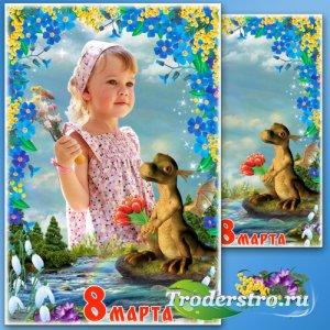 Сказочная рамка для фото - Букет к 8 Марта