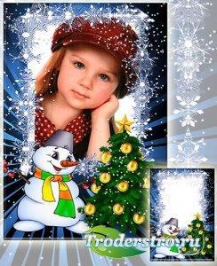 Рамка детская для фотографии - Новый год