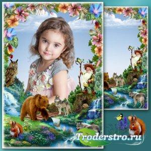 Сказочная детская рамка для фото - Повелитель лесного царства
